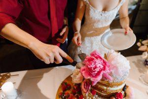 Brautpaar angeschnitten