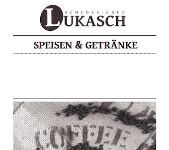 Schloss Cafe Speisekarte