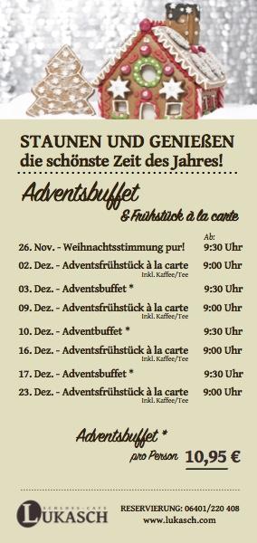 Adventsbuffet Lukasch