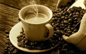 Kaffee geniessen, bei Lukasch